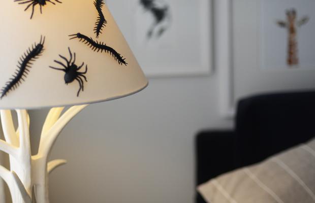 {Creepy crawlers on lamp shades}