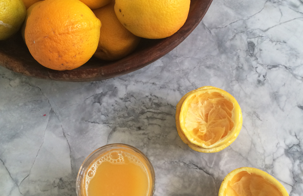 {Fresh citrus for morning juice}