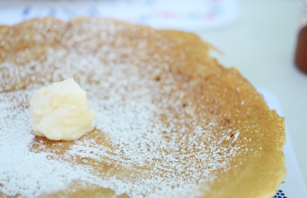 {Danish pancakes on a day trip to Solvang}