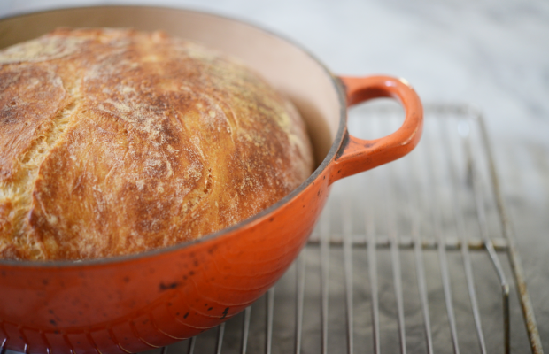{Rediscovered my love for thisno-knead bread}