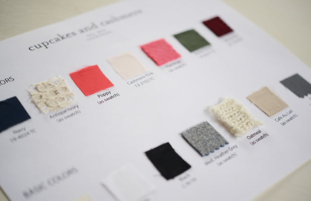 Final fabric swatches.