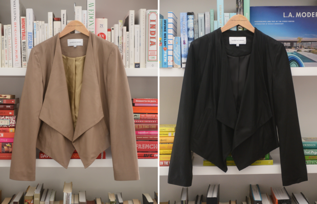 The softest leather jackets in light camel and black (there are also vegan leather options).