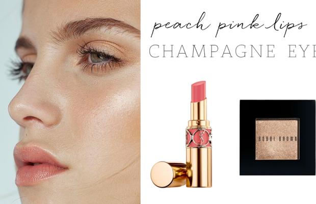 YSL 'Pink in Paris' Lipstick, Bobbi Brown ' Champagne' Shimmer Wash Eyeshadow