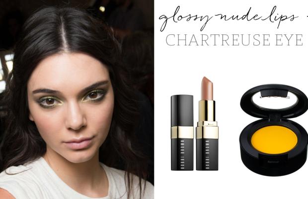 Bobbi Brown 'Beige' Lipstick, MAC 'Chrome Yellow' Eyeshadow