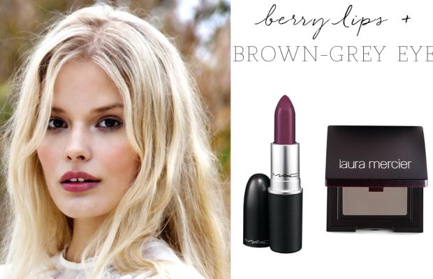 MAC ' Rebel' Lipstick, Laura Mercier 'Twilight Grey' Eyeshadow