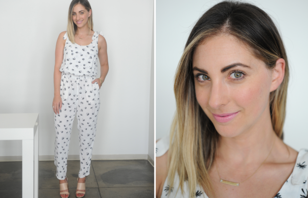 {Tuesday: Madewell Jumpsuit, Givenchy sandals, Nars 'Roman Holiday' Lip}