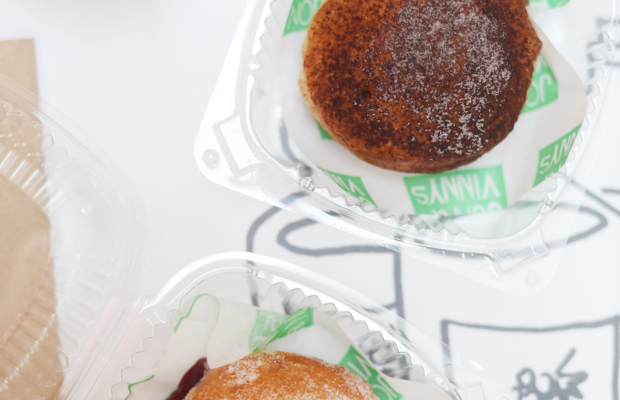{The best Nutella + Jam filled bombolone at one of my favorite spots}