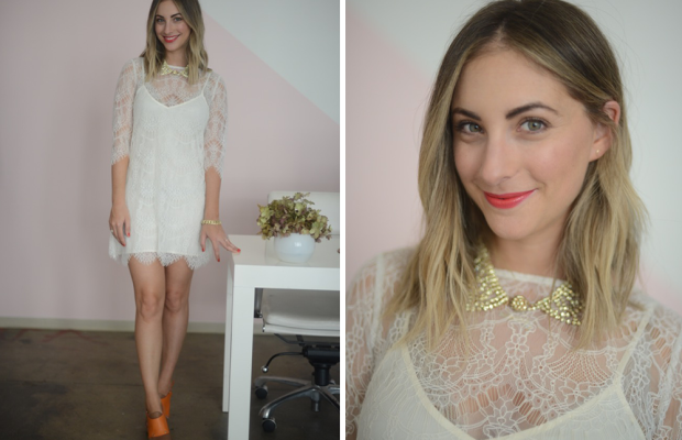 {Friday: Cupcakes and Cashmere Dress, Marni Sandals, Pinko Necklace, Topshop 'Honk' Lipstick}