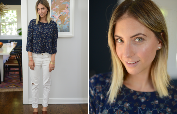 Thursday: Cupcakes and Cashmere Blouse (on sale), McGuire Denim (similar here), No. 6 Clogs