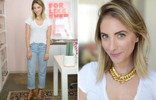 Monday: James Perse Shirt, Vintage Levi's, Zara Shoes (similar here), Vintage YSL Necklace
