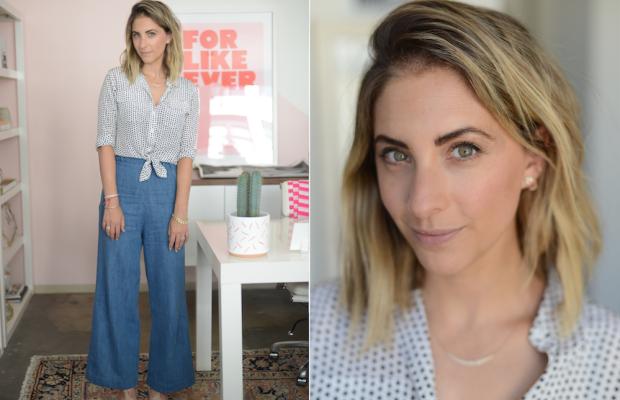 Monday: Equipment Top, Samantha Pleet Jeans, Philosophy Sandals