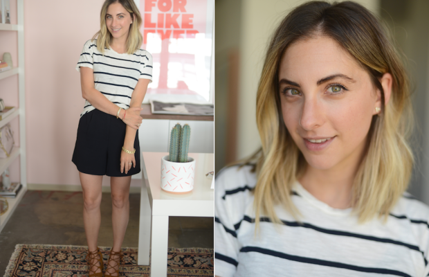 Wednesday: Madewell Top, James Jeans Shorts, Zara Shoes