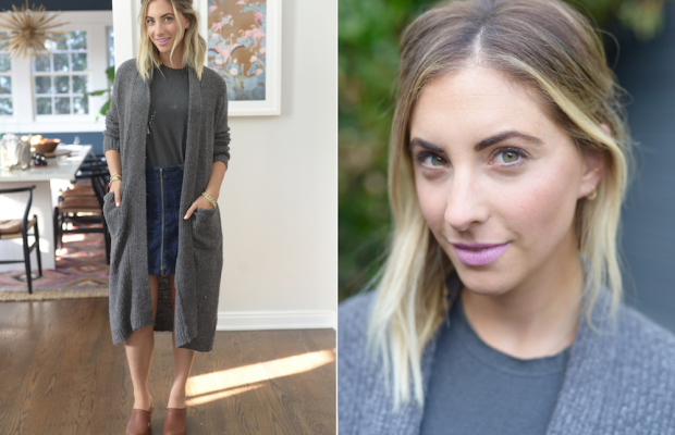 Tuesday: Topshop Tank Top (similar here), Cupcakes and Cashmere Sweater (similar here), Madewell Skirt, No. 6 Clogs (similar here), MAC 'Snob' Lipstick