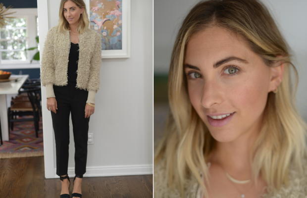 Monday: Club Monaco Sweater Tank, Cupcakes and Cashmere Jacket (similar here) and Pants, Topshop Sandals (similar here)