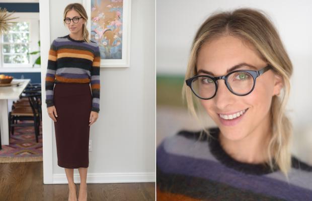 Thursday: Isabel Marant Etoile Sweater, ALC Skirt (similar here), Manolo Blahnik Pumps, L.A. Eyework Glasses