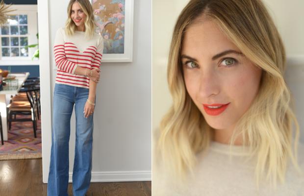 Monday: Mesdemoiselles sweater,Frame Denim Jeans,Robert Clergerie Platforms (similar here),TopShop Rio Rio Lipstick