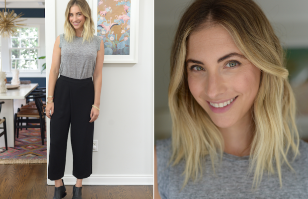 Thursday: Cupcakes and Cashmere Top, Club Monaco Pants (similar here), Alexander Wang Booties