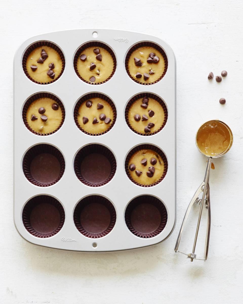 pumpkin chocolate chip cupcake baking