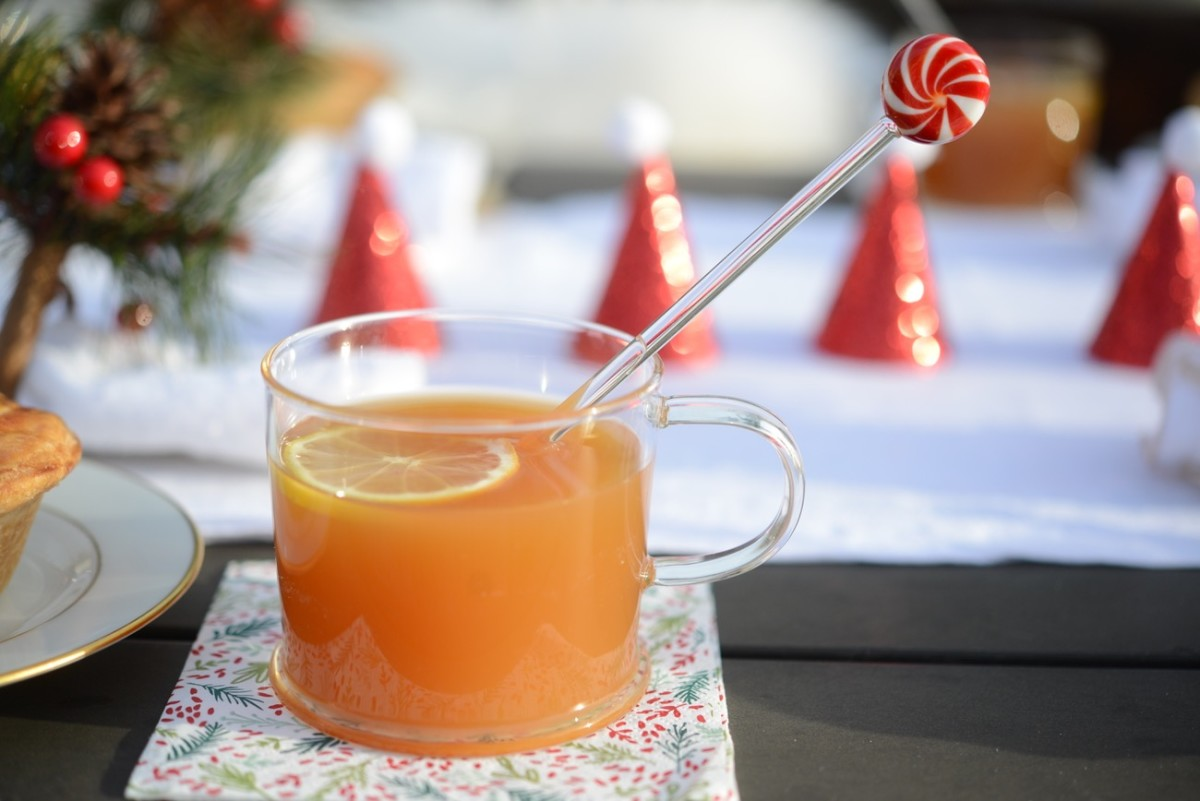 Hot Toddy with a festive swizzle stick.