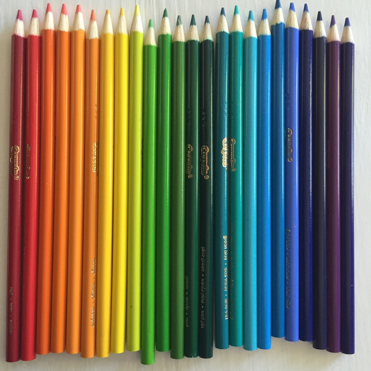 {Freshly sharpened colored pencils}