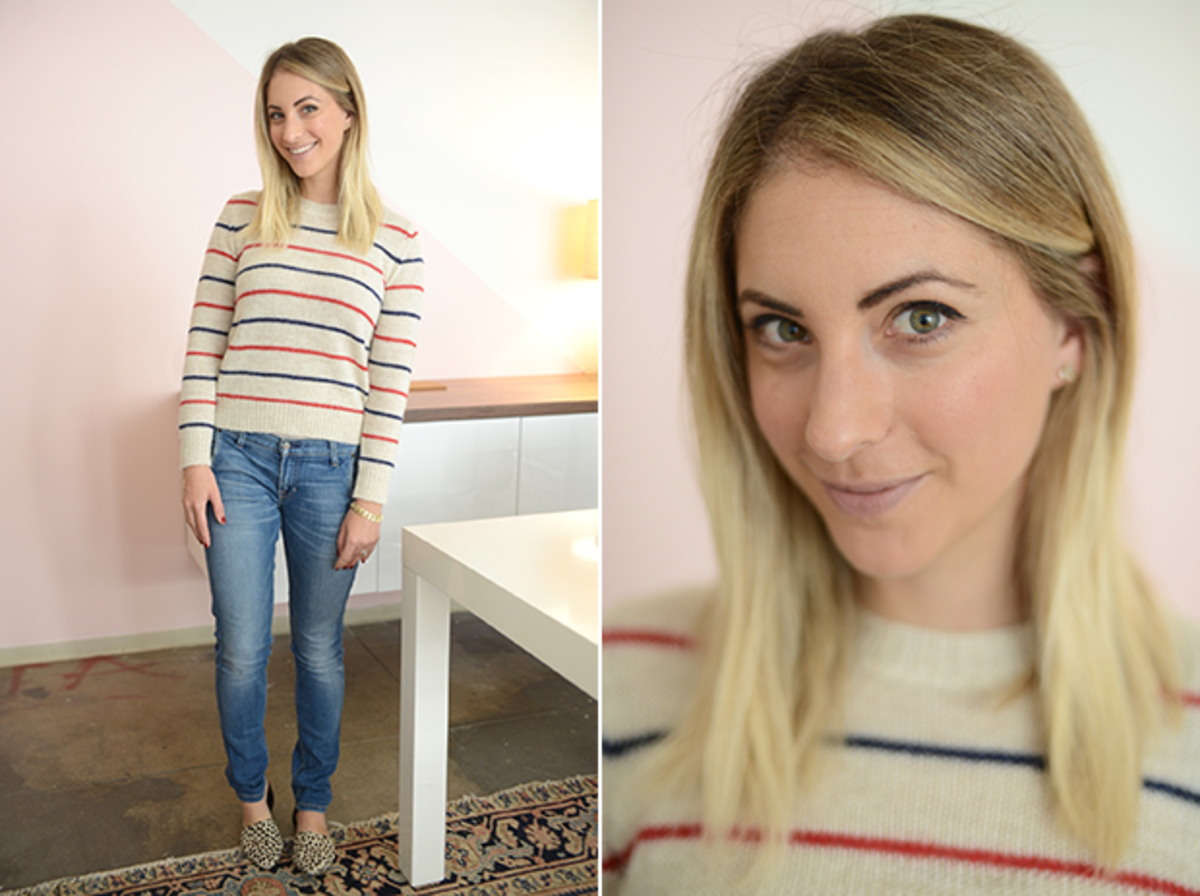Monday: Étoile Isabel Marant Sweater, Elizabeth and James Jeans, Jenni Kayne Flats (similar hereand a lower priced version here)