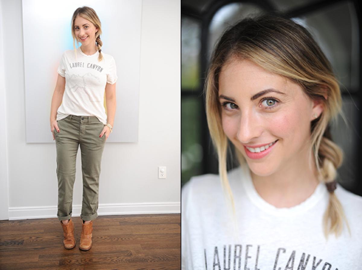 Friday: Current/Elliott T-Shirt, Genetic Denim (similar here), VPL Boots, Bobbi Brown 'Retro Coral' Lipstick