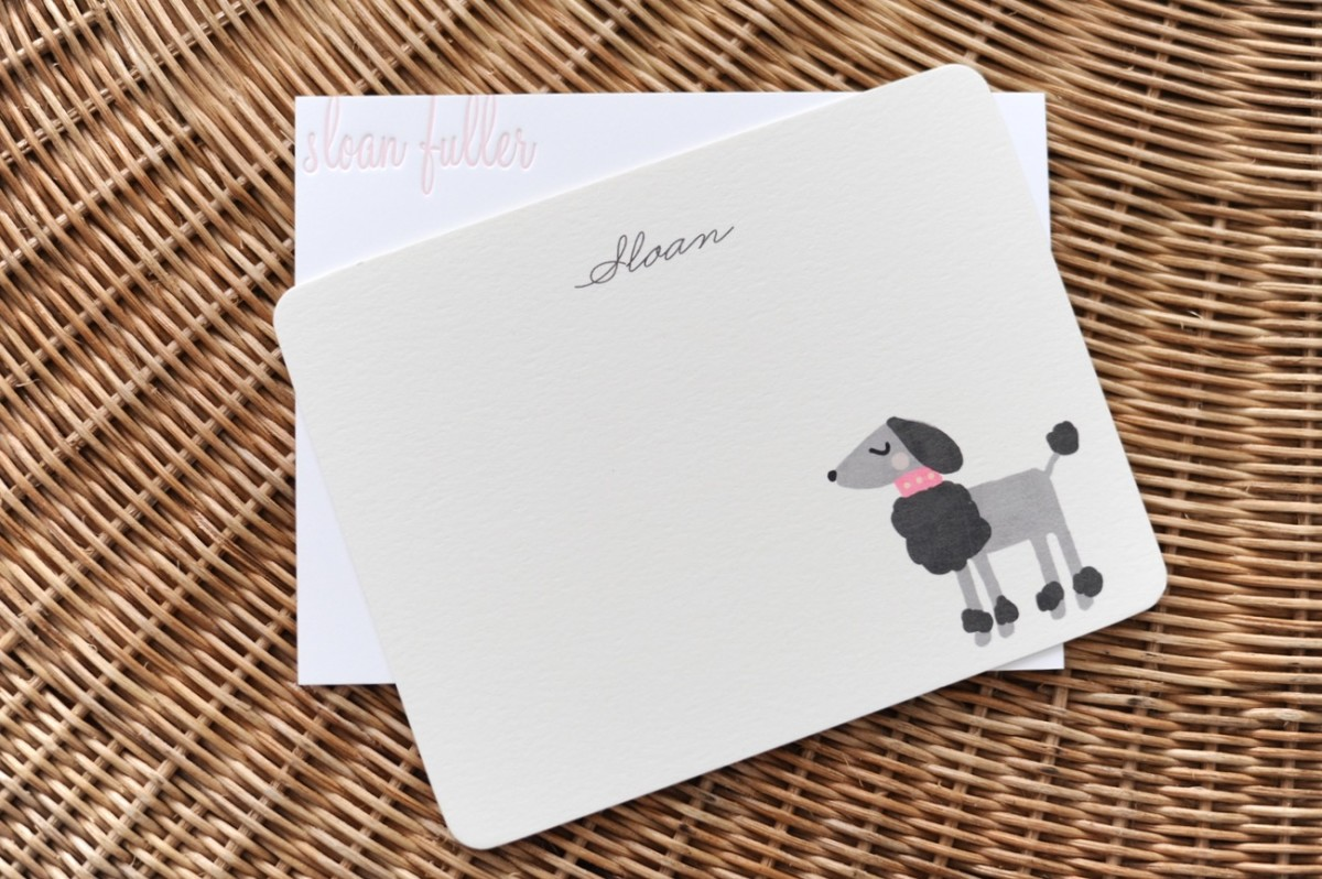 {Sloan's stationery collection (that I write her thank you notes on) - from Walnut Paperie + Minted}