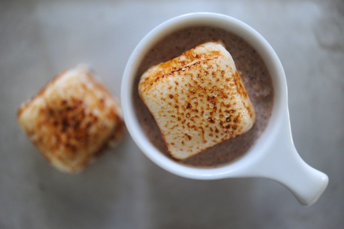 {Mid-week hot chocolate + torched marshmallows break}
