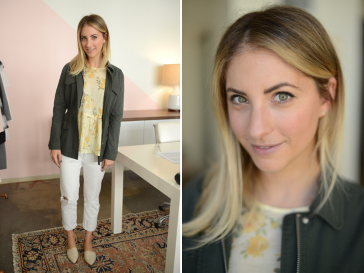 Friday: The Great Shirt, Cupcakes and Cashmere Jacket (similar here), McGuire Denim, Jenni Kayne Flats