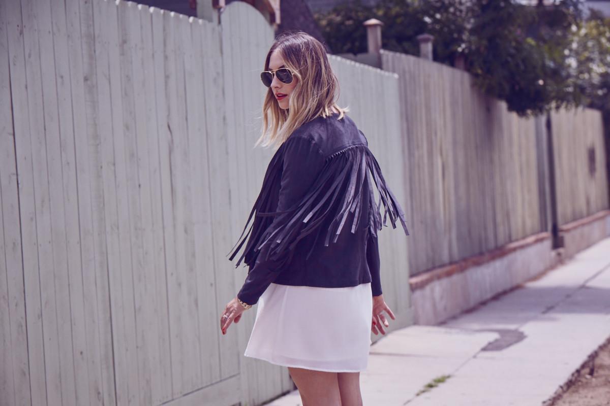 {Spring wardrobe essential: a (faux) suede fringe jacket}