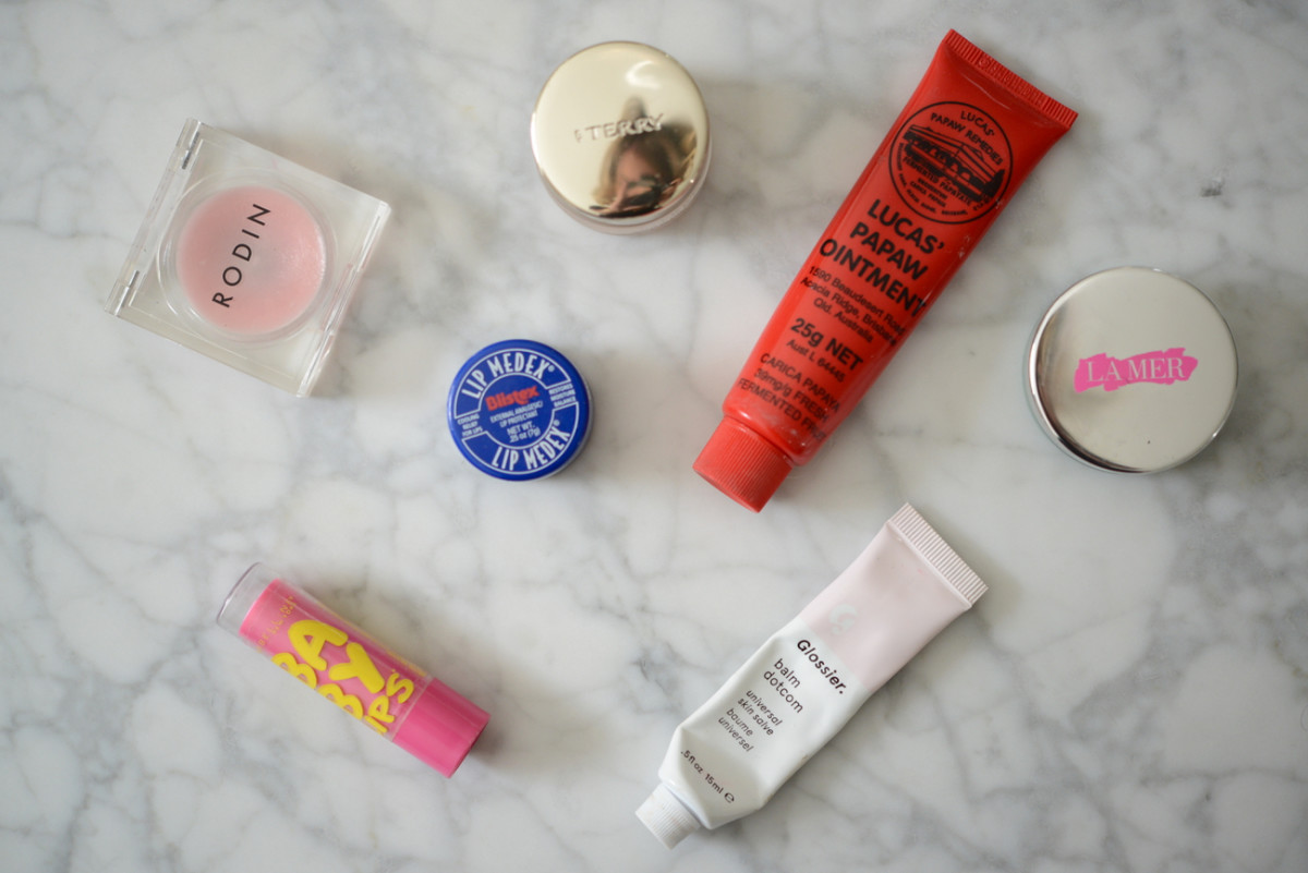 {My ridiculous assortment of various lip treatments}