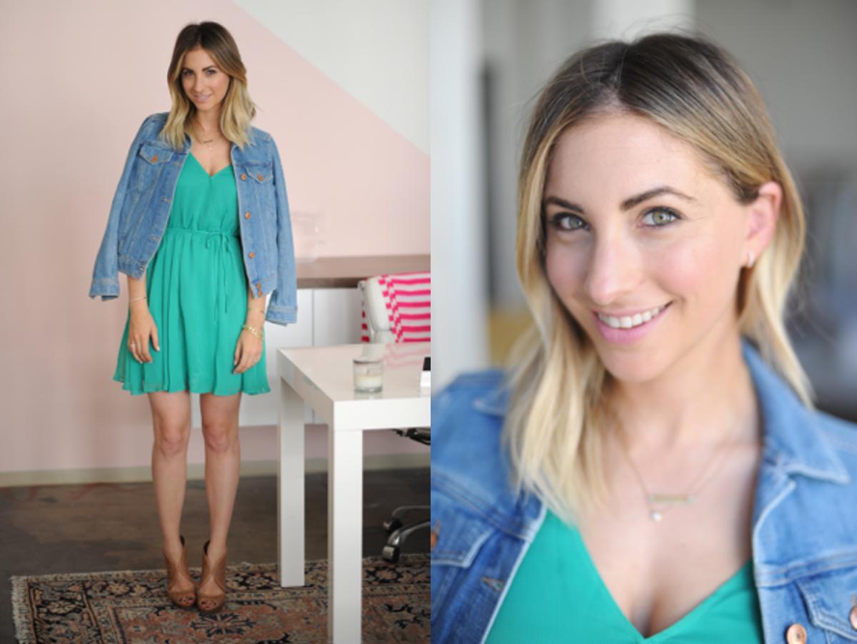 Friday: H&M Denim Jacket, Cupcakes and Cashmere Dress, Prada Sandals