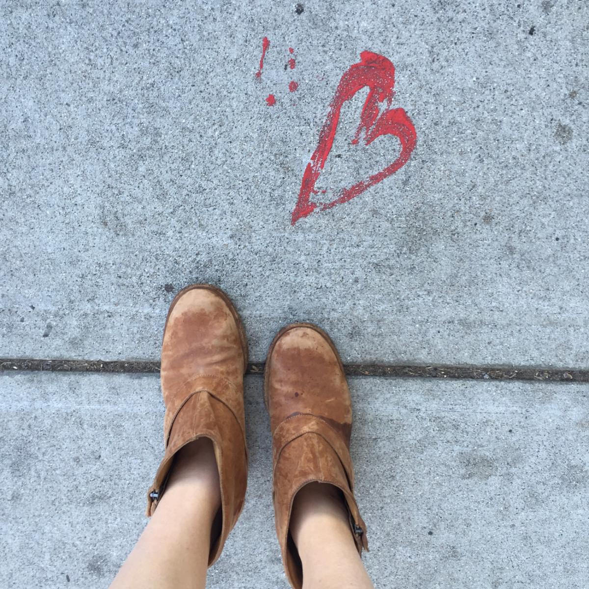 {Sidewalk heart}