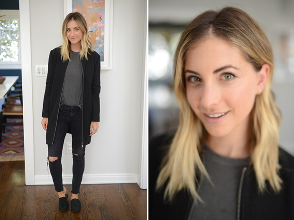 Thursday: The Great Shirt, Cupcakes and Cashmere Coat, AG Jeans, Jenni Kayne Mules