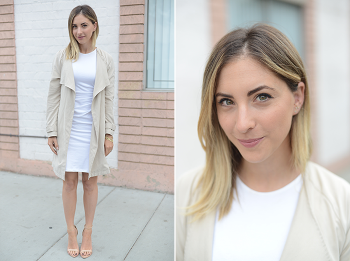 Thursday: Theory Dress, Cupcakes and Cashmere Trench, Zara Sandals