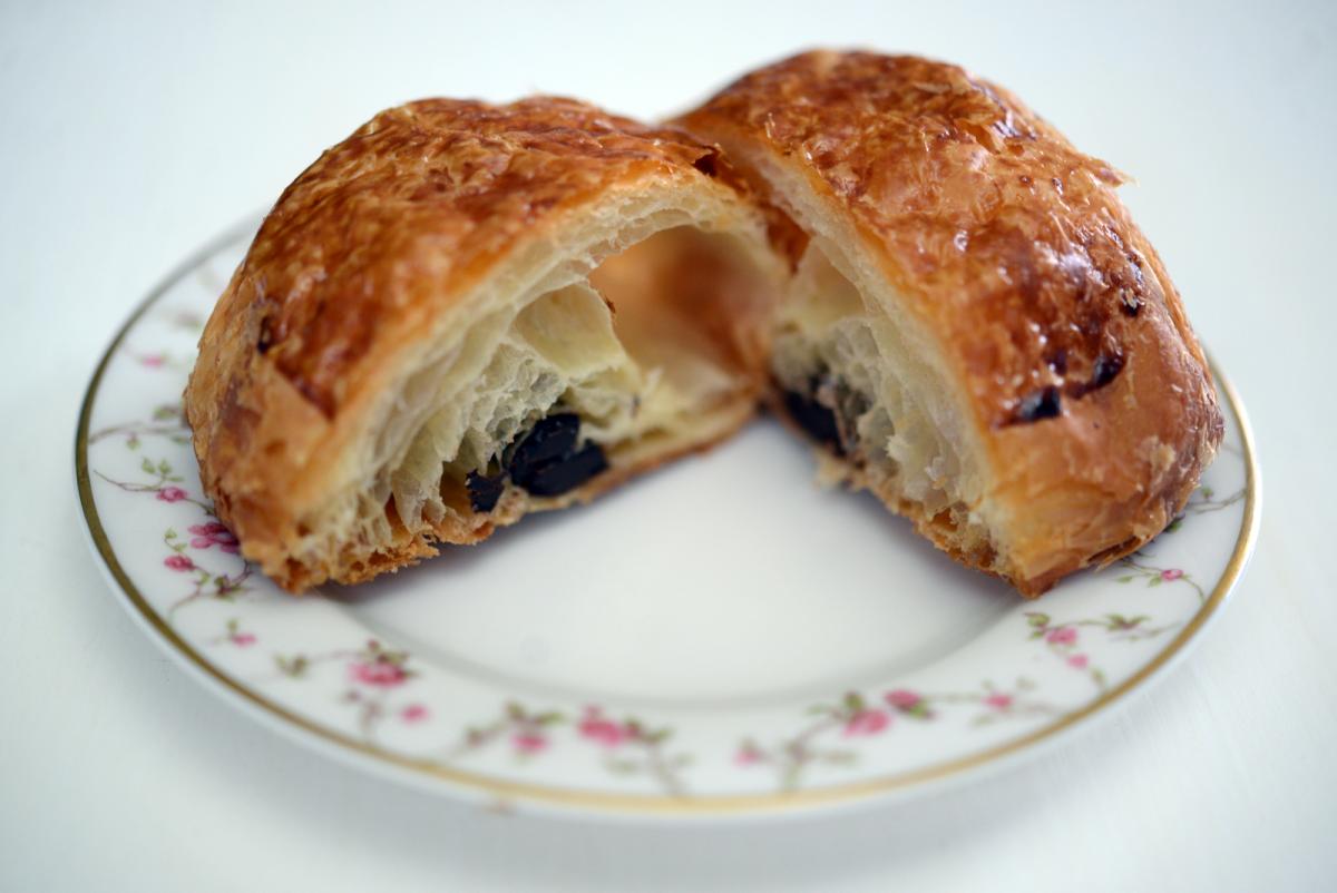 {Friday's breakfast: pan au chocolat from Bottega Louis}