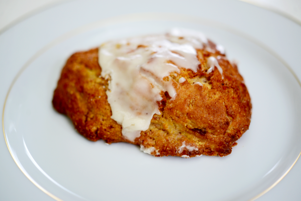 {Thursday's breakfast: strawberry cream cheese scone from Go Get Em Tiger}