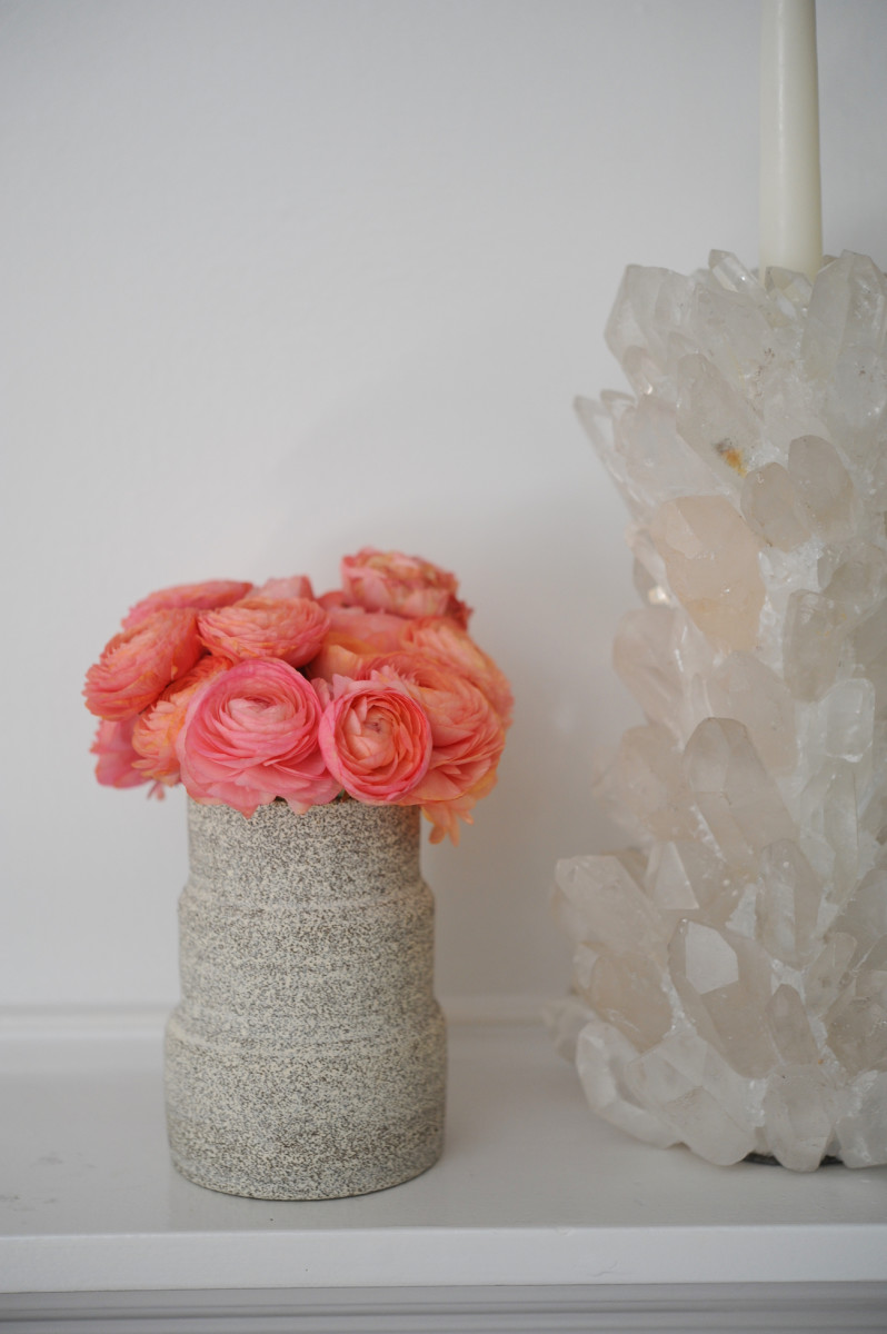 {The sweetiest peach-colored ranunculus}