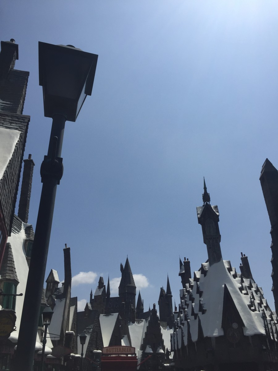 {A glimpse at Hogsmead at Universal Studios, which was magical, albeit small}