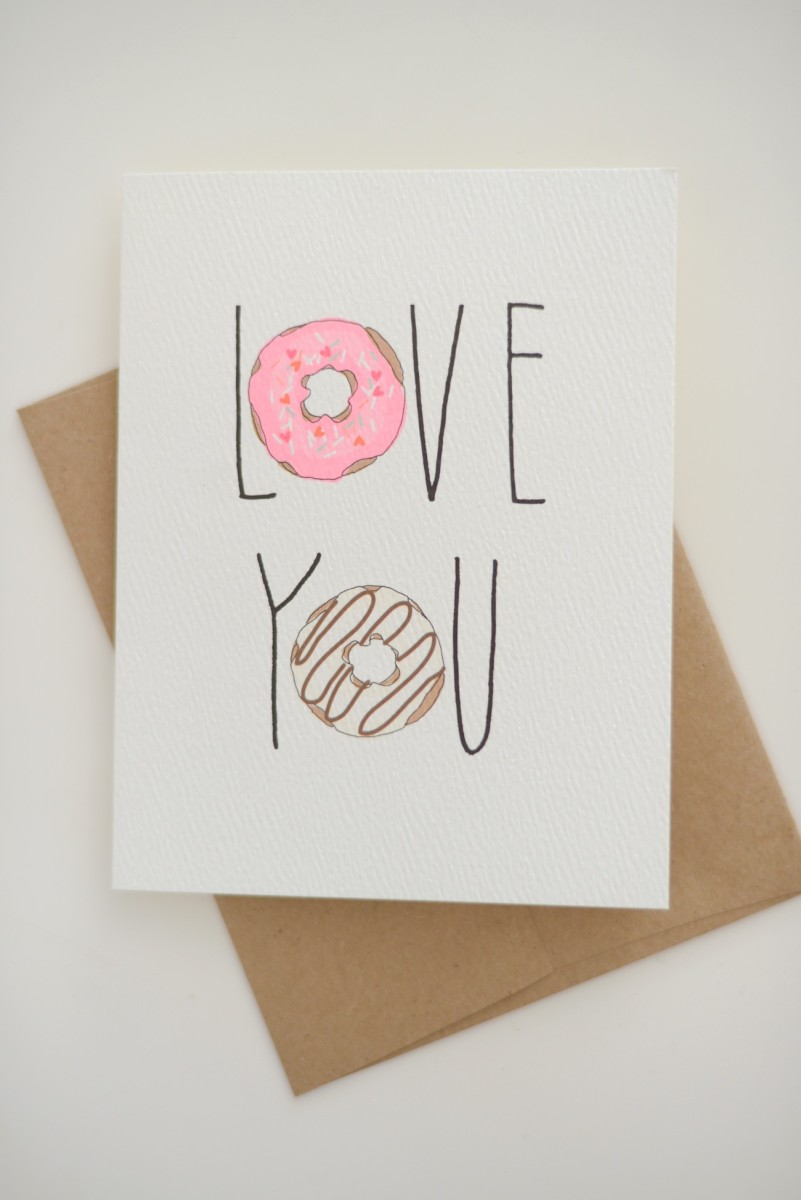 {The perfect card for G, who looooves donuts}