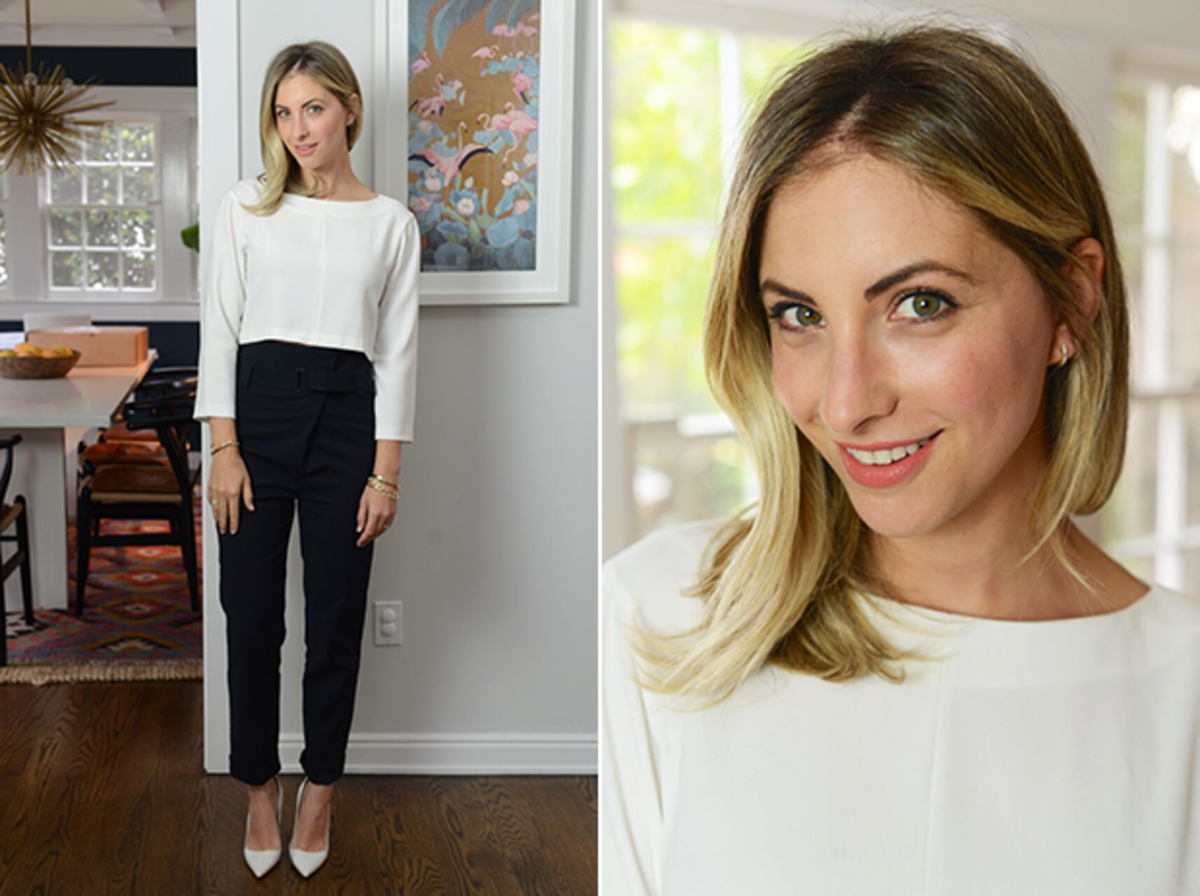 Thursday: Club Monaco Top, Tibi Pants, Manolo Blahnik Pumps, Nars 'Torres Del Paine' Lip Pencil