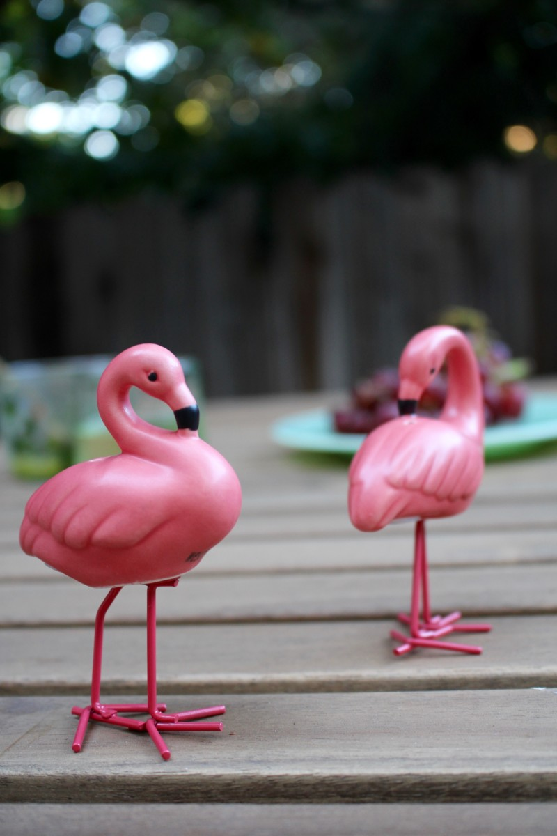 {The cutest salt and pepper shakers for dinners outside}