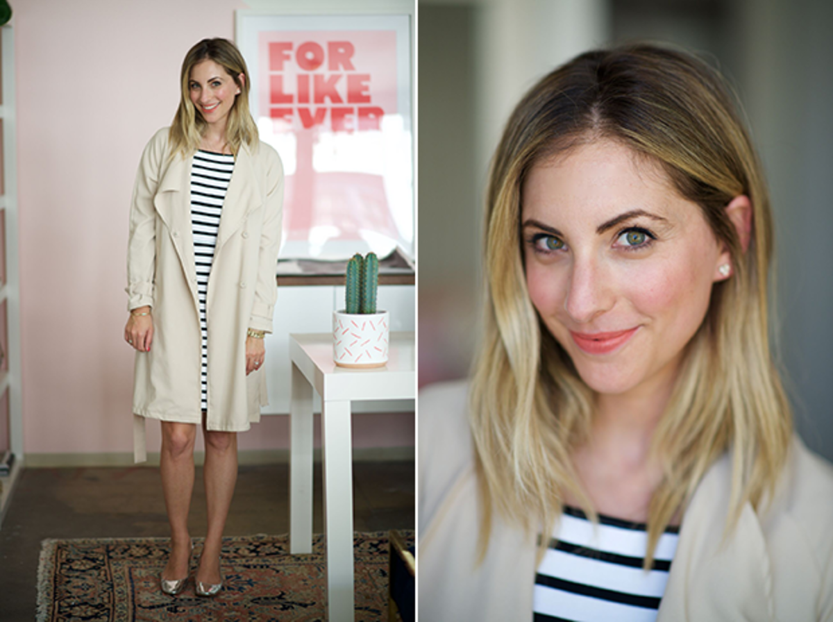 Wednesday: Cupcakes and Cashmere Dress, H&M Trench, Zara Shoes, Topshop 'Charmed' Lipstick