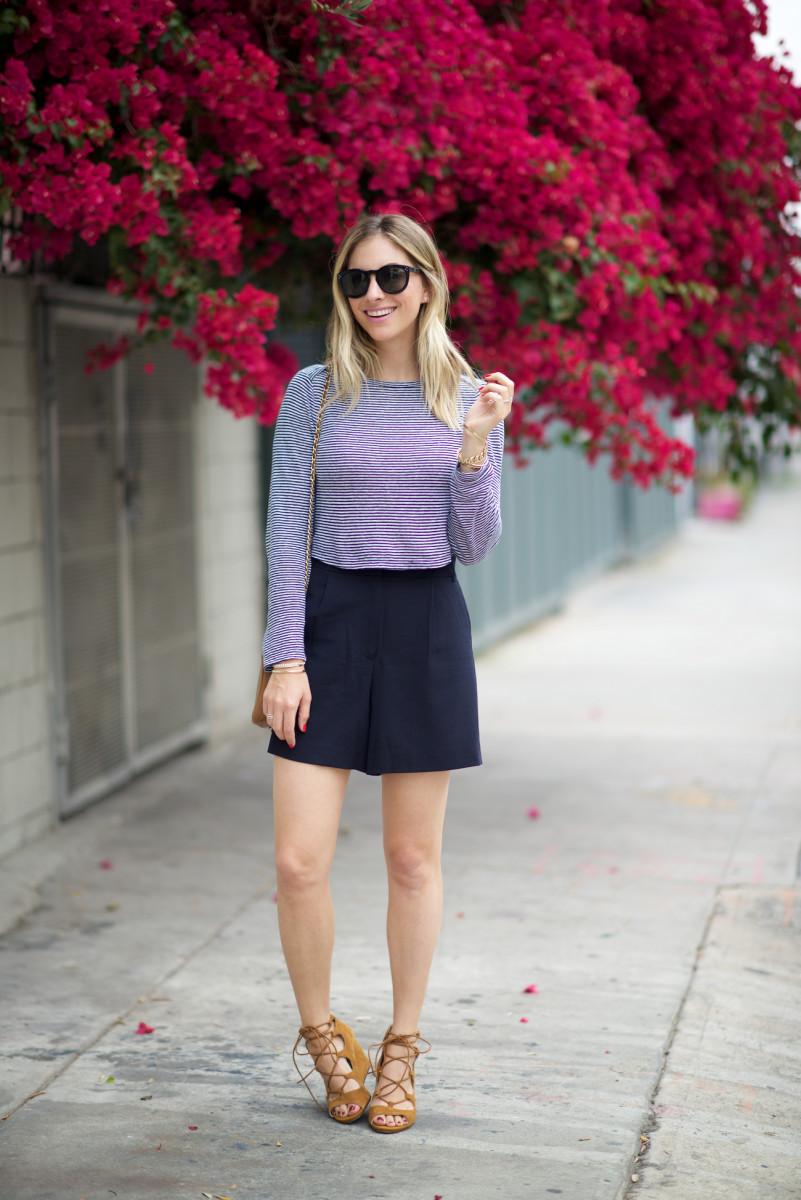 A.L.C. Top,James Jeans Shorts, Vintage Chanel Purse, Celine Sunglasses,Zara Heels