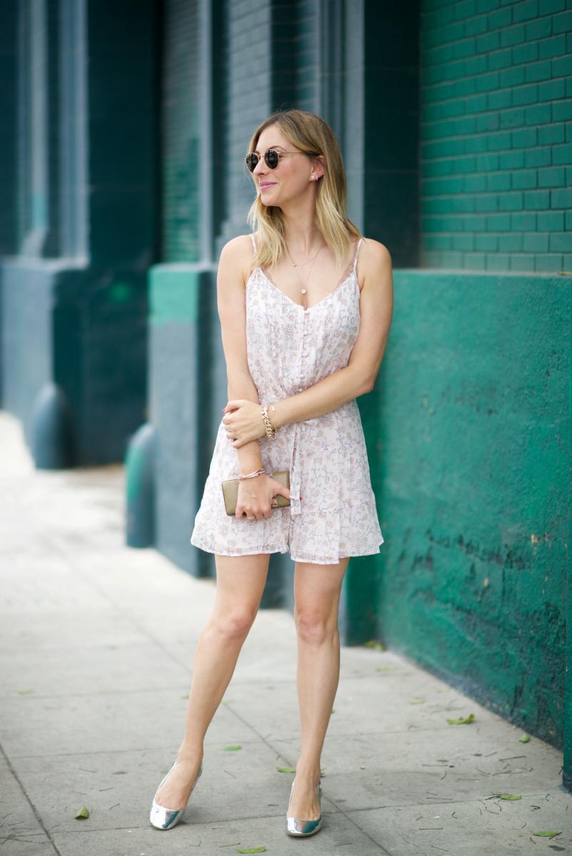 Ray-Ban Sunglasses, Paige Denim Dress, Zara Shoes, Alexandra DeClaris Clutch