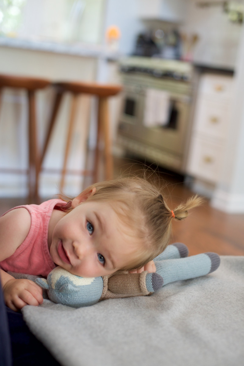 {Sloan and her favorite cat toy, breaking hearts}