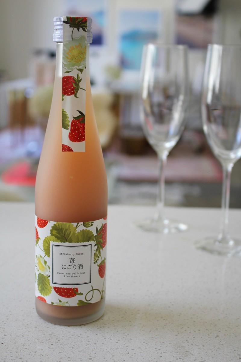 {I couldn't resist this bottle of strawberry sake, which turned out to be the perfect summer drink.}