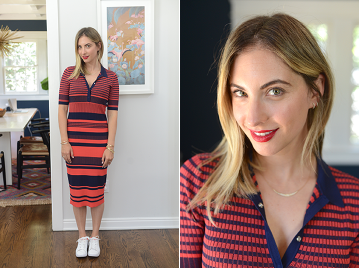 Thursday: Topshop Dress (similar here), Nike Shoes, MAC 'Red' Lipstick