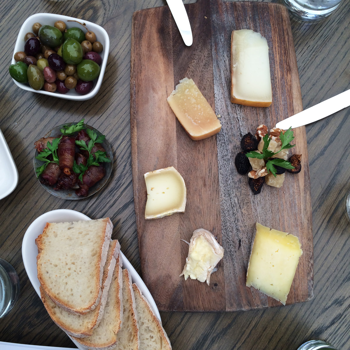 {The most perfect appetizer spread at AOC}