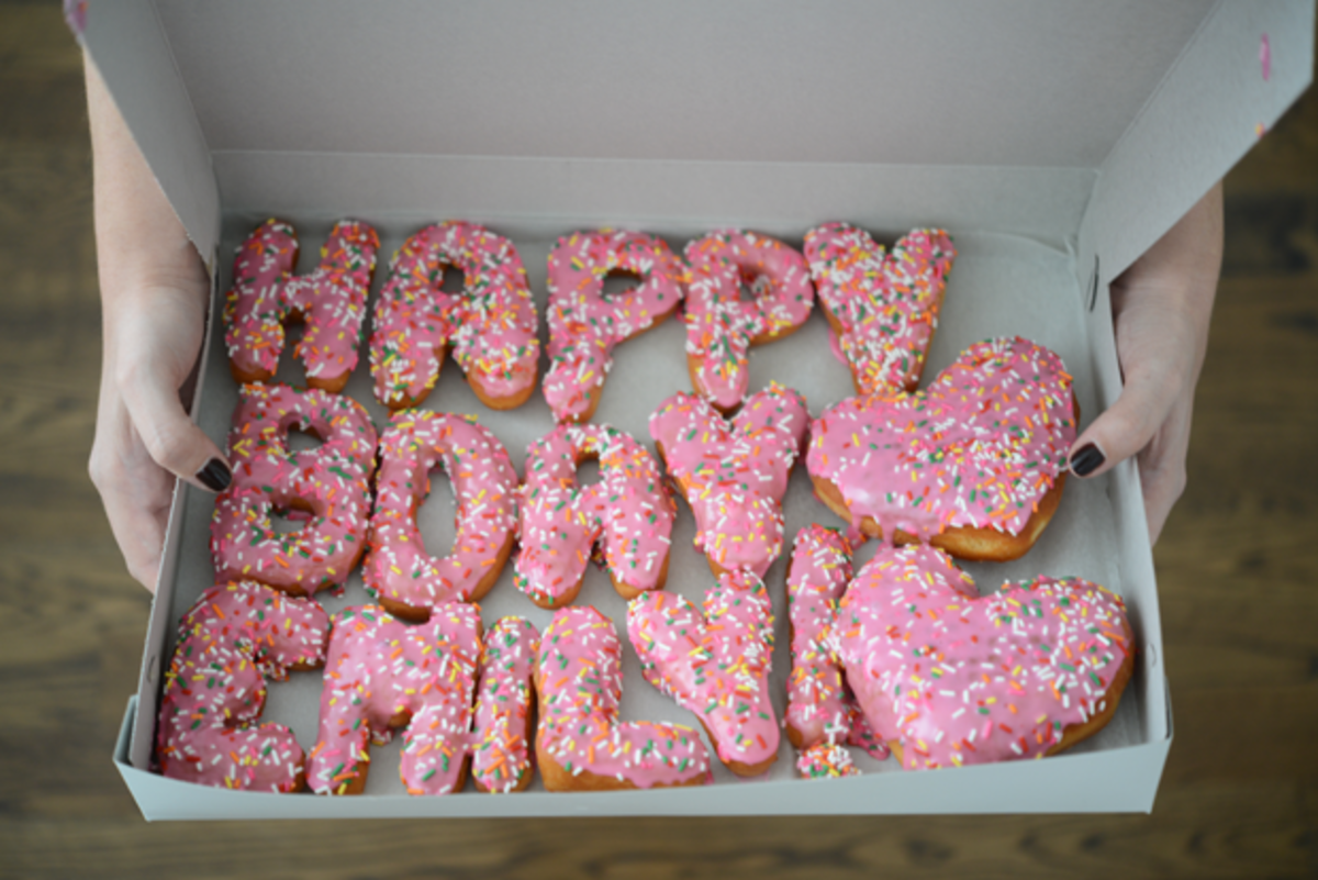 {Birthday Donuts from a friend}